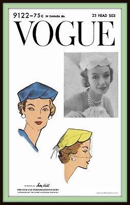Hat PILL BOX FabricSew Pattern Designer Sally Victor VOGUE #9992 Millinery Cap