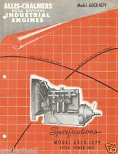Equipment Brochure Allis Chalmers Buda 6dcb 1879 Industrial Engine 1956 E2310