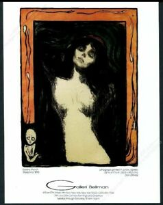 1983 Edward Edvard Munch Madonna Art Nyc Gallery Vintage Print Ad by Ebay Seller