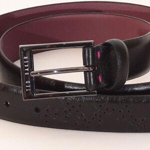 Ted-Baker-Belt-NEW-Black-Purple-or-black-Green-Men-s-belt-100-Leather-belt