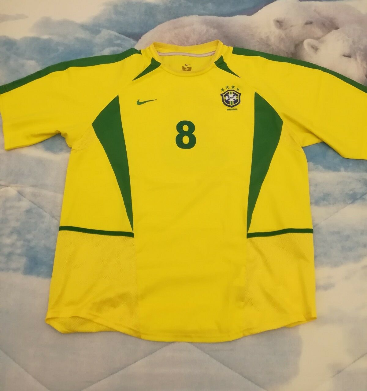MAGLIA SHIRT CAMISETA VINTAGE OFFICIAL BRASIL FOOTBALL calcio NO match worn