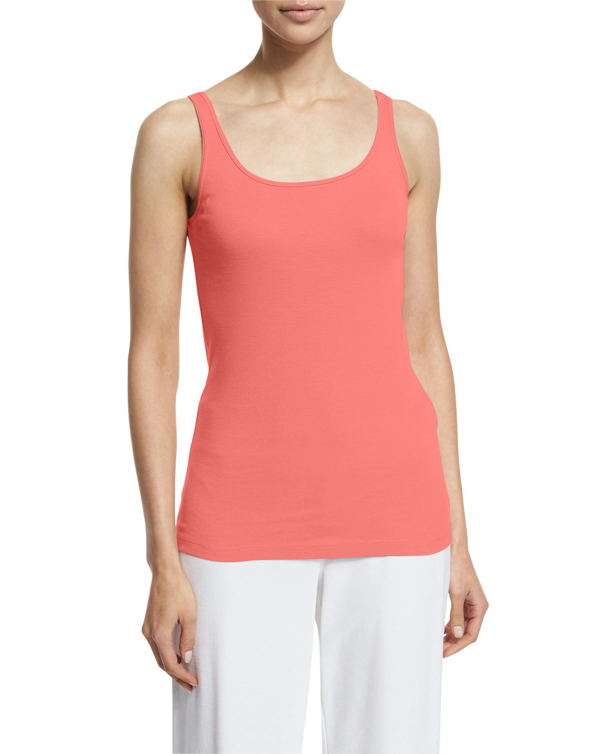 NWT Eileen Fisher Silk Jersey Scoop Neck Slim Cami Flora Größe P P