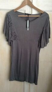 Bnwt-T-amp-K-Boutique-Grey-Top-Size-12