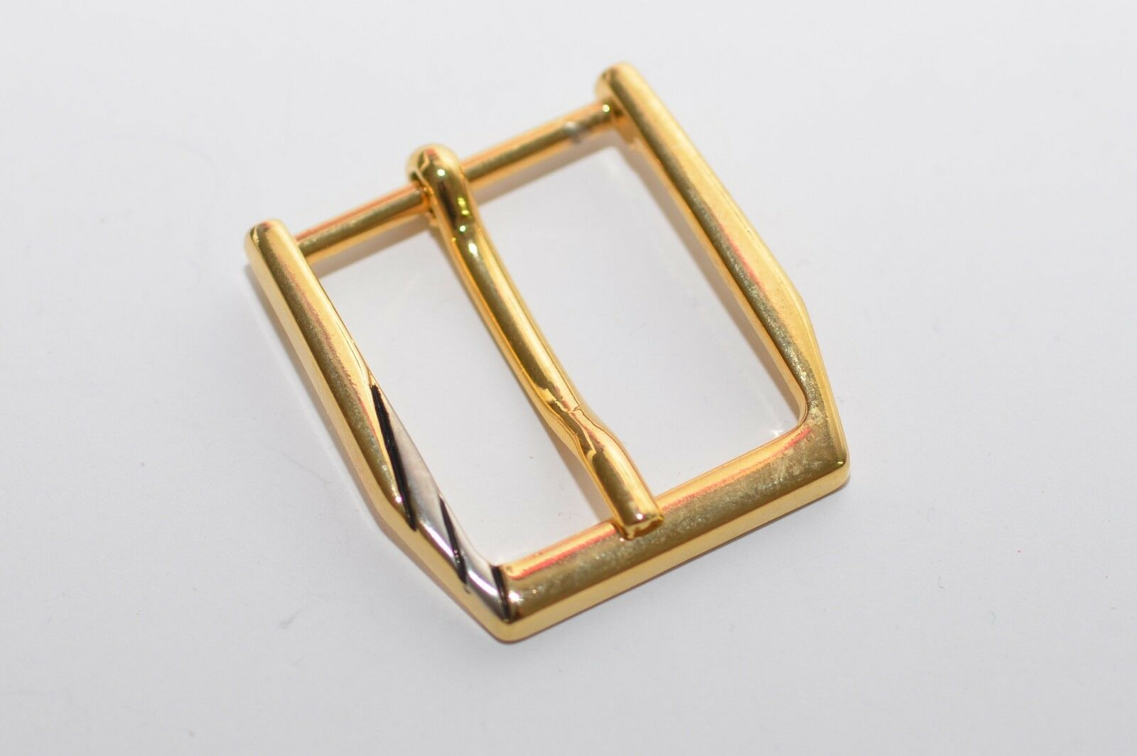 2x Solid Belt Buckle Clasp Buckle, Approx. 24 MM Width, Gold, 80er Years