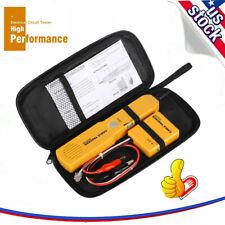 Network Rj11 Line Finder Cable Tracker Tester Sender Wire Tracer Amp Tool Bag Kit