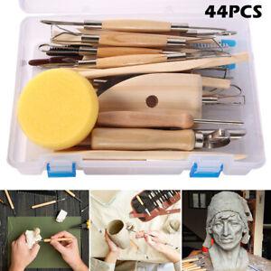 44pcs-Pottery-Mandala-Dotting-Tools-Rock-Clay-Sculpting-Painting-Ceramic-Stencil