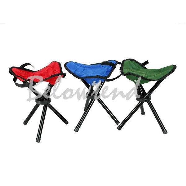 Slacker Folding Portable Travel Chair/Stool Fishing Hiking Camping 3 legs