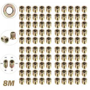 20x M4 M5 M6 M8 M10 Gewinde Typ Einpressmutter Verbindungsmuffe