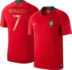best website d8ac9 645bd Details about Nike Cristiano Ronaldo Portugal Soccer Jersey 2018 World Cup  CR7 Sz M Red BV6118