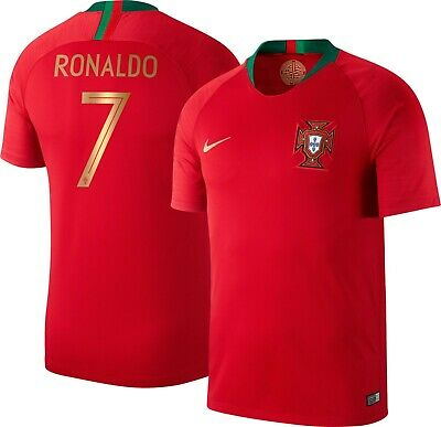 the best attitude 7f871 7585f Nike Cristiano Ronaldo Portugal Soccer Jersey 2018 World Cup CR7 Sz M Red  BV6118 | eBay