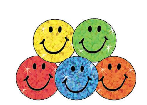400 Colorido DESTELLOS Sonrisa Pegatinas De Premio Escuela Ideal Tabla