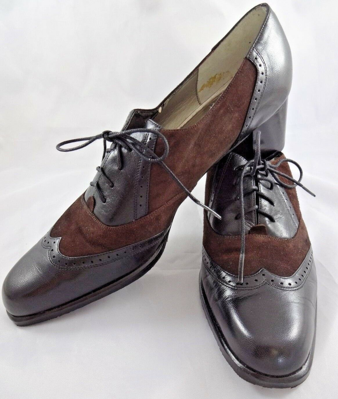 Ros Hommerson Brown Leather Narrow shoes 10.5 S 10 1 2 AAA Womens Low Heels