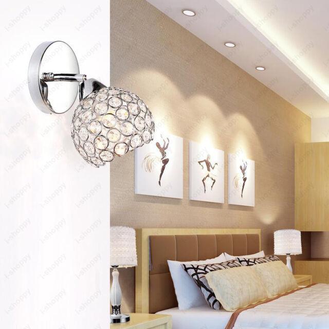 7w Luxury K9 Crystal Wall Mount Light Fixture Decor Lamp Vanity Lighting Bedroom