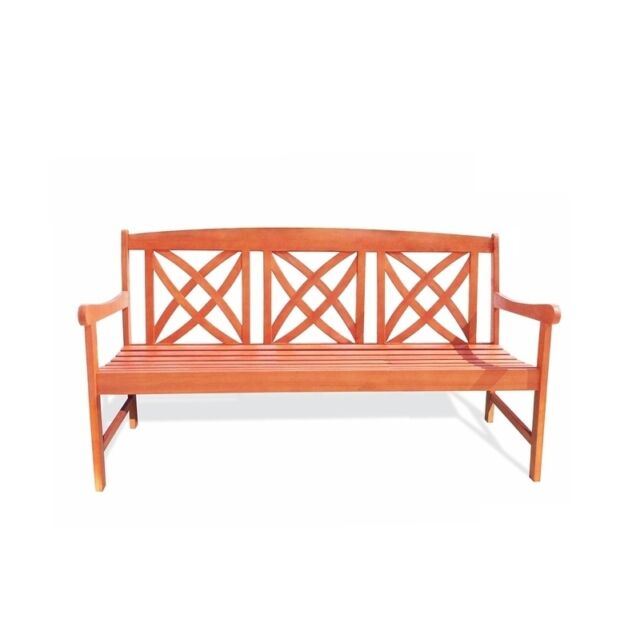 Vifah 5 Foot Eucalyptus Wood Garden Bench For Outdoors Ebay