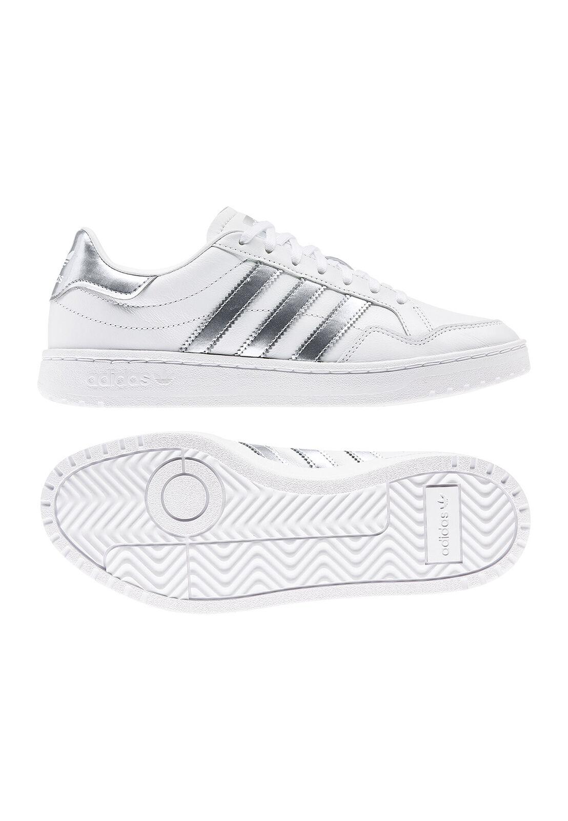 Adidas Originals Turnschuhe TEAM COURT W EG9824 Weiß Silber