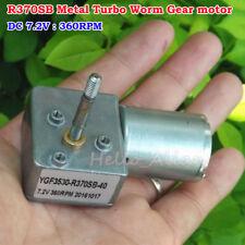 Dc 72v 360rpm Low Speed Reversible High Torque Metal Turbo Worm 370 Gear Motor