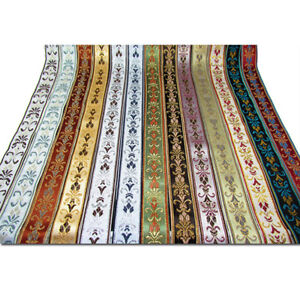 Vintage-Floral-Lace-Crochet-Fringe-Jacquard-Ribbon-Braid-Trim-Sew-Fabric-Crafts