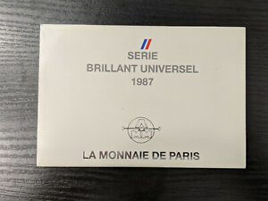 Monnaie de Paris Coffret BU Brillant Universel 1987 10 pièces