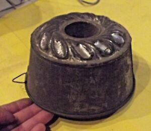 Ancien-Moule-professionnel-Charlotte-Metal-Diametre-16-x-8-5-cm-1950-Vintage