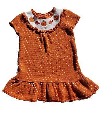 Gymboree Happy Harvest PUMPKIN Gray Jumper Sweater Dress 4T Girls NWT Fall