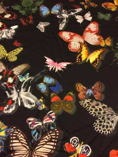 """DESIGNERS GUILD CURTAIN FABRIC /""""Butterfly Parade/"""" perfect stock buy per metre"""