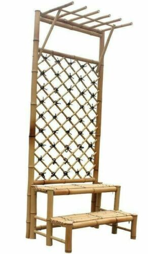 Bamboo Plant Stand Large Climbing Hanging Plants Pots Natural Handcrafted Strong
