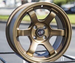 15x8-Rota-Grid-Concave-4x100-20-Full-Royal-Sport-Bronze-Rims-New-Set