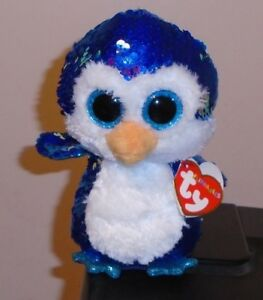 Ty FLIPPABLES ~ PAYTON the Penguin Changing Sequins 6