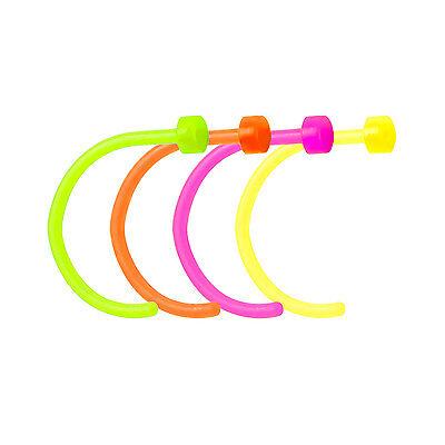 "5//16/"" Bioflex Nose Piercing Hoops 5-Pack Flexible Nose Hoops 18g"