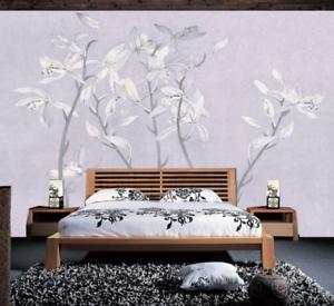 3D greye bluemen Hintergrund 73 Tapete Wandgemälde Tapete Tapeten Bild Familie DE