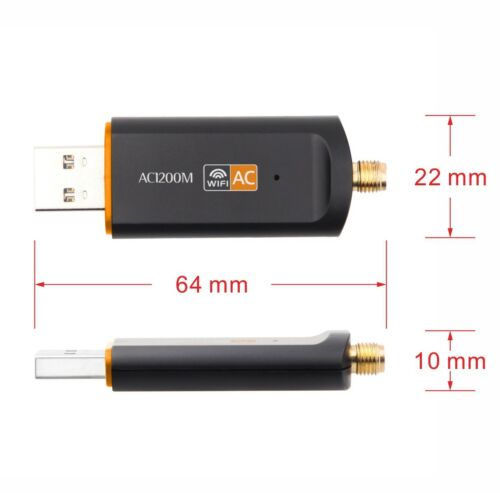 2.4//5Ghz 1200Mbps Dual Band  Wireless USB WiFi Network Adapter w//Antenna 802.11A
