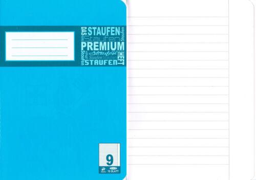 3 Schulhefte Lineatur 9 liniert DIN A5 16 Blatt Premium Schulheft
