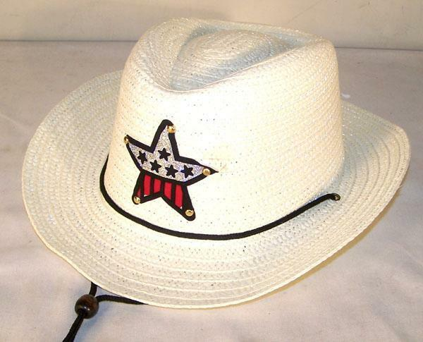 3841cfdb3c3 Kids White Color Cowboy Hat W USA Star Child Headwear Children Boy Cowgirl  Girl for sale online