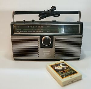 Vintage Panasonic RS-836A Stereo 8 Track Tape Player AM-FM Boombox W/8 Track