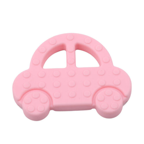 Baby Teething Toy Silicone Car Shape Infant Teether Chewable Toy 8C