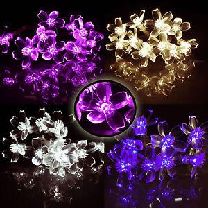 Led Lichterkette Batterie Warmweiss Bunt 3 X 10 Led Blumen