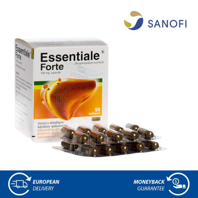 Essentiale Forte 300mg Leber Unterstützung Pflege Reinigen Detox Kur 50 Kapseln