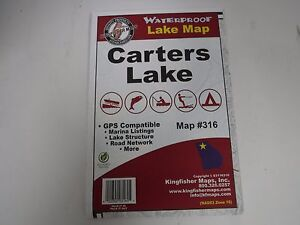 Kingfisher Map, CARTERS LAKE  Lakes GPS Compatible, etc..