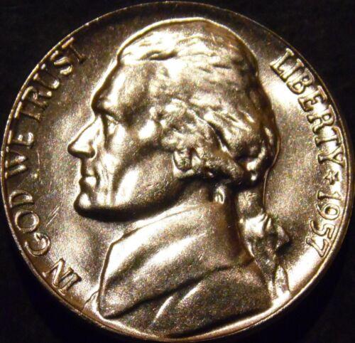 1957-P Jefferson Nickel Choice//Gem BU Uncirculated