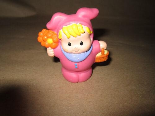 Fisher Price Little People Easter Bunny Pink Basket Flowers Egg Hunt Boy Bunny