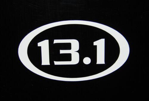 "13.1 Half Marathon Race Decal Sticker Run Jog *NEW Design 3.5/"""