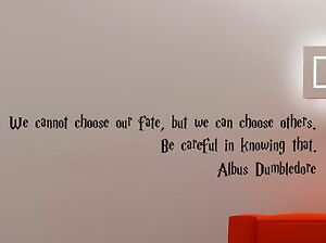 Image Is Loading Albus Dumbledore Quote Vinyl Decal Harry Potter Wall