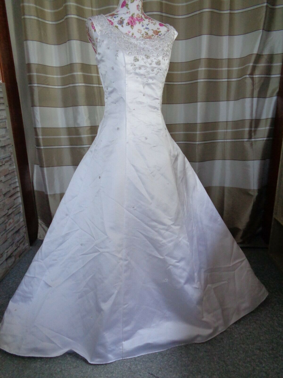 (B905)Edles Damen Braut Standesamt Abend Kleid GR: 38