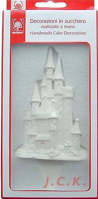 12.5cms plain colourable princess castle pick sugar paste cake topper decoration