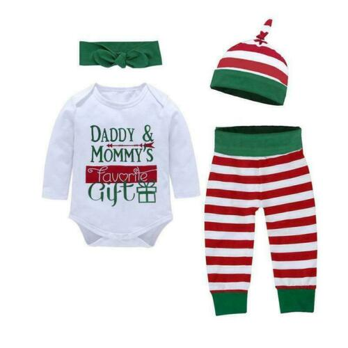 Pants Outfits J4A3 Newborn Infant Baby Girl Boy Christmas Clothes Jumpsuit