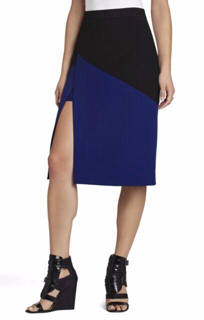 BCBGMAXAZRIA Womens Jowell Color-Blocked Pencil Skirt BCBGMAXAZRIA Women/'s Collection IZD3F058