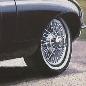 """54""""x19"""" BRITISH BLACK by FRANCIS BROOK VINTAGE CAR CANVAS"""