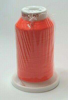 ISACORD 100/% POLYESTER MACHINE EMBROIDERY THREAD 1000M APRICOT ORANGE 1220