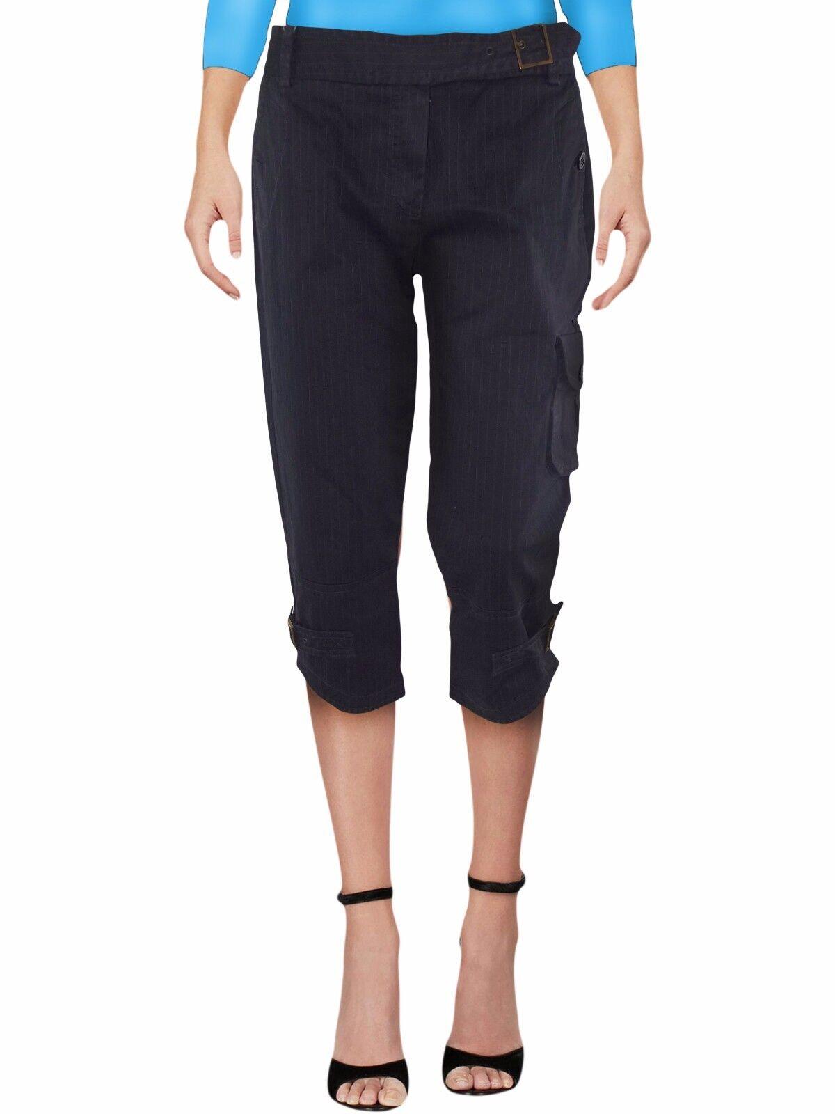 Pantalone 3 4 blue gessato MAX MARA i bluees tg it 42 w 28 de 36