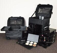 2 in 1 Luxury Nylon Makeup Cosmetic 4 Wheels Rolling Trolley Case Organizer 849L